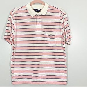 Vintage | 60's Pink White Striped Men's Polo Shirt